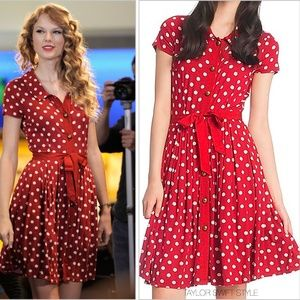Tracy Reese Red Polka Dot Dress ASO Taylor Swift